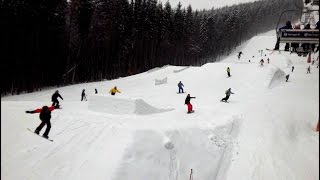 Горные лыжи. Буковель. Sunny Days. Skiing resort of Ukraine