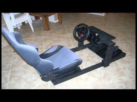 DIY Gran Turismo Logitech steering wheel stand/ cockpit racing rig. Part 2