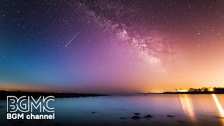 Beautiful Starry Night Sky with Ambient Music - Calming Music, Relaxing Music, Music for Sleep