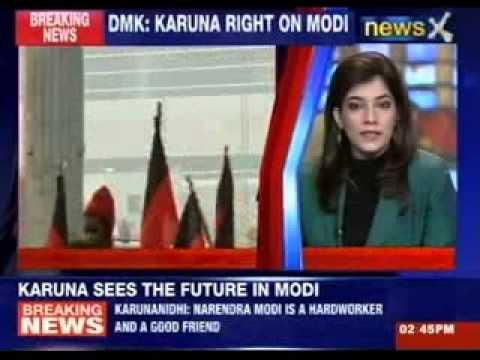 DMK President M Karunanidhi praises Narendra Modi
