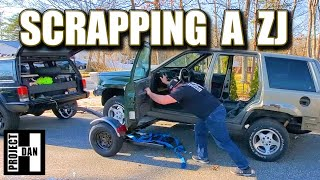 SCRAPPING A JEEP ZJ - PARTING A 1997 GRAND CHEROKEE BEFORE IT GOES TO THE CRUSHER!