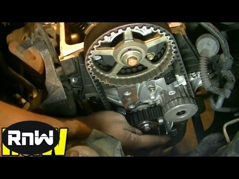 Honda Civic 1.7L SOHC Timing Belt. Tensioner. Water Pump Replacement Part 4