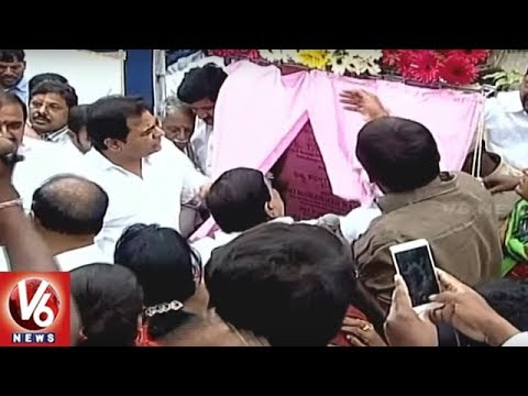 Minister KTR Lays Foundation Stone For Kondapur Flyover In Hyderabad | V6 News