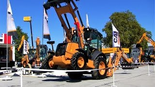 Case Backhoe Loader Demonstration Show - Diggers at Work - Case Excavator Technical Fair