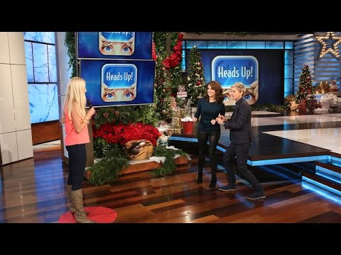 Tina Fey and Ellen Play 'Heads Up!'