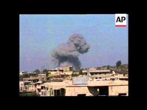 LEBANON: ISRAELIS ATTACK SUSPECTED HEZBOLLAH GUERRILLA BASES