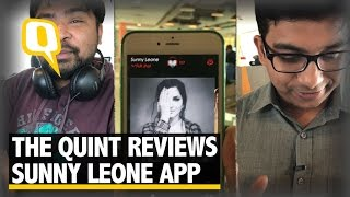 The Quint: Sunny Leone Launches Mobile App to Promote her Own Brand