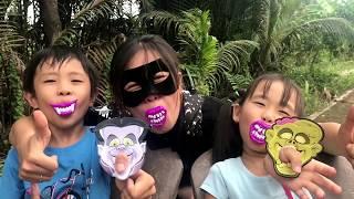 Con Ma Halloween (^_^) Stin Dâu có sợ Ma không ? Stin Dâu Ăn Kẹo Răng Ma siêu ngon