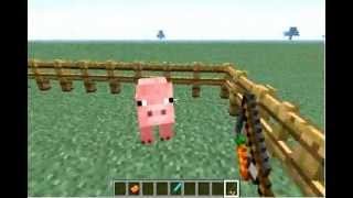 How To Control A Pig In Minecraft Update 1.4.2