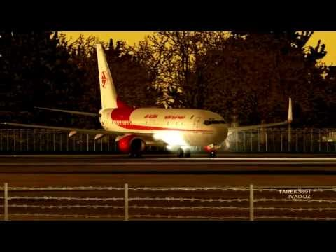 [HD] Air Algerie Boeing 737-800 takeoff at Lille Lesquin International Airport LFQQ