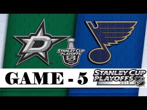 Dallas Stars Vs St. Louis Blues   Second Round   Game 5   Stanley Cup 2019    Обзор матча