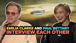 Star Wars' Emilia Clarke and Paul Bettany Interview Each Other