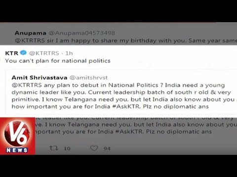 IT Minister KTR Interacts With Netizens Via Twitter | V6 News
