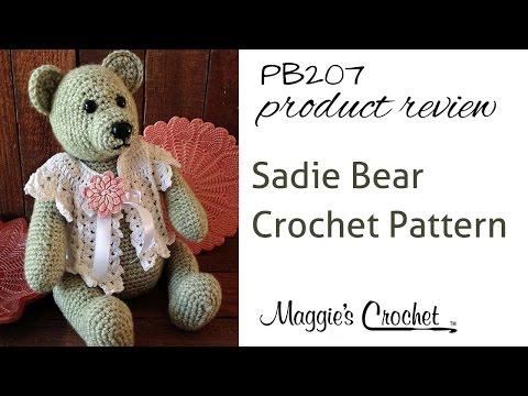 Sadie Bear Crochet Pattern Product Review PB207