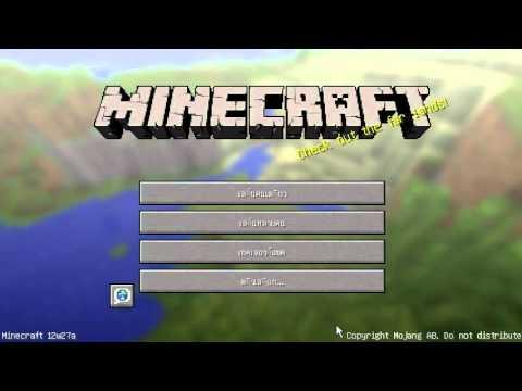 Minecraft 12w27a สอนวิธีเปิดผ่าน LAN