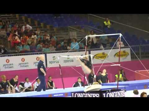 Ruby HARROLD GBR, Bars Senior Qualification, European Gymnastics Championships 2012