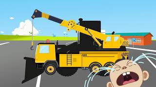 #Truck and Mini #Excavator, Learning Name,  Dump Truck Video for  Children, Construction,