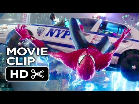 The Amazing Spider-man 2 Movie Clip - Times Square Slow Motion Save (2014) - Movie Hd video