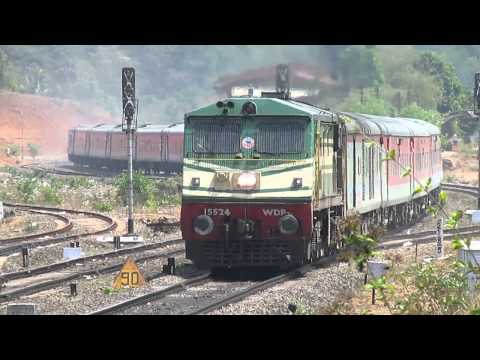 [irfca] Konkan Magic 12431 Trivandrum-nizamuddin Rajdhani Express Curves At Nivsar video