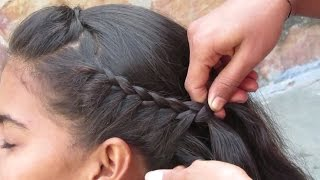 Simple Side French Braid Hair Style