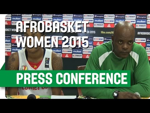 Cameroon v Nigeria - Post-Game Press Conference - AfroBasket Women 2015