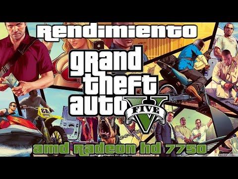 Rendimiento: GTA V - AMD Radeon HD 7750   R7 250