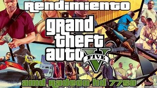 Rendimiento: GTA V - AMD Radeon HD 7750 | R7 250