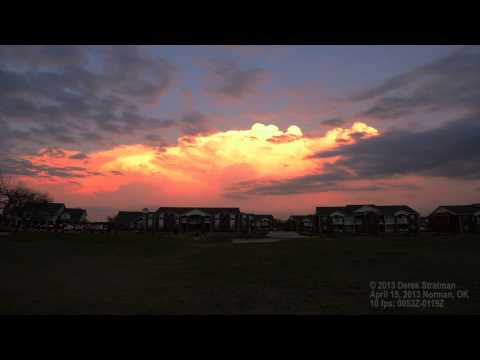 The clouds are on fire!  Norman, OK Sunset Time-Lapse April 15, 2013