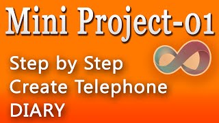 Create Telephone Diary - Mini Project - step by step in c#