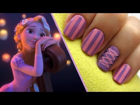 Cool Tangled Rapunzel Nails