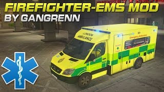 London Ambulance saving lives in GTA! - Firefighter/EMS Mod #1