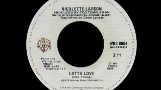 Nicolette Larson ~ Lotta Love 1978 Disco Purrfection Version