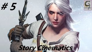 Witcher 3 All Story Cinematic Cutscenes Act 1 - Ciri's Story: The Race