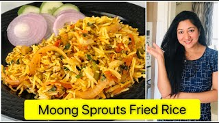 Moong Sprouts Fried Rice | High Protein Fried Rice in Lockdown | By Aarum's Kitchen