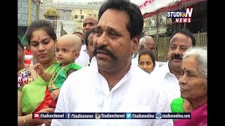 Minister Amarnath Reddy  CM Ramesh VIsits Thirumala