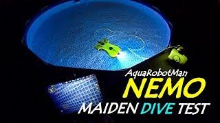 AquaRobotMan NEMO Underwater Drone ROV Review - Maiden Dive Test