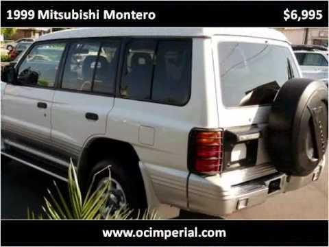 1999 Mitsubishi Montero Used Cars Buena Park CA
