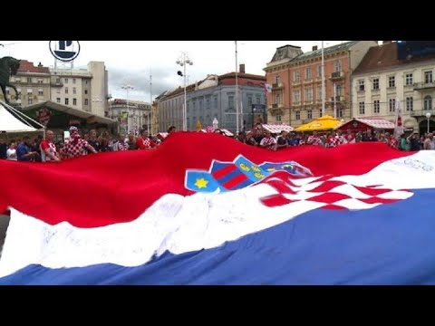 Croatia fans in Zagreb raring to go for England World Cup semi thumbnail