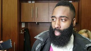 James Harden after scoring 48 in win over Lakers