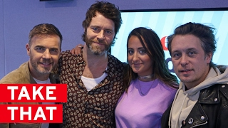 """We might get into a WhatsApp group"" - Take That are back!"