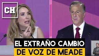 MOMENTO exacto del extraño cambio de voz de MEADE en el Debate Presidencial - Carlos Chavira