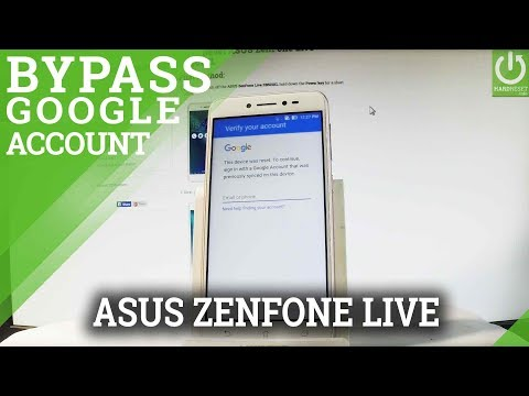 How to Bypass Google Account in ASUS ZenFone Live - Skip Google Verification
