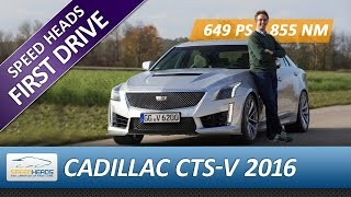2016 Cadillac CTS-V Test (649 PS) - Fahrbericht - Review (German + English subtitles)