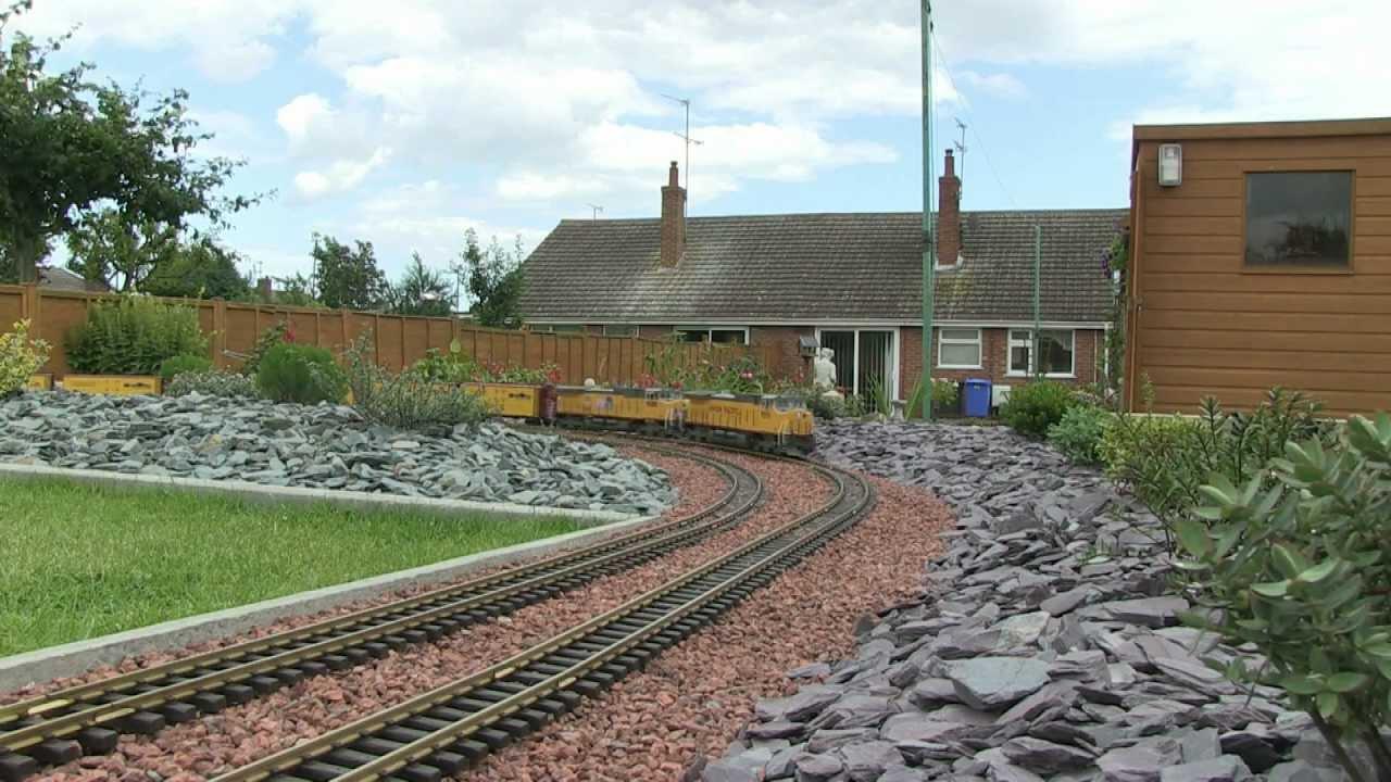 Building our g scale garden railway youtube for Garden railway designs