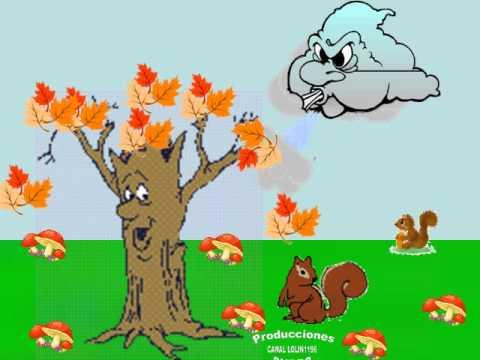 canci n infantil las hojas del rbol el oto o youtube