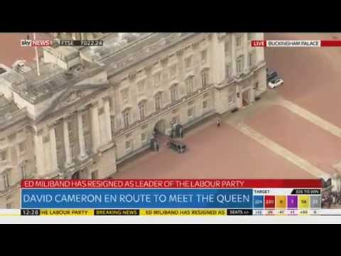 David Cameron Arrives At Buckingham Palace To Meet The Queen