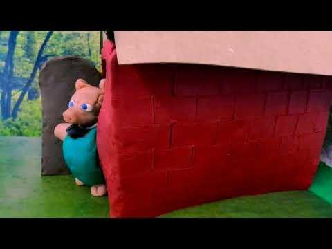 Los tres cerditos y el lobo. (Proyecto Stop Motion) (Creepy)