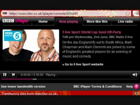 (Part 2 of 2) 5 live Sport - World Cup Send Off-Party - Alistair Mcgowan - 02/06/10