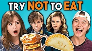 Try Not To Eat Challenge - Harry Potter Food | Teens & College Kids Vs. Food