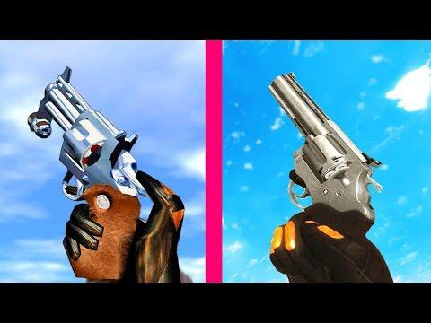 Half Life 1 Gun Sounds vs Black Mesa